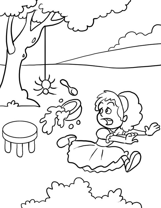 little miss muffet coloring pages - photo#21
