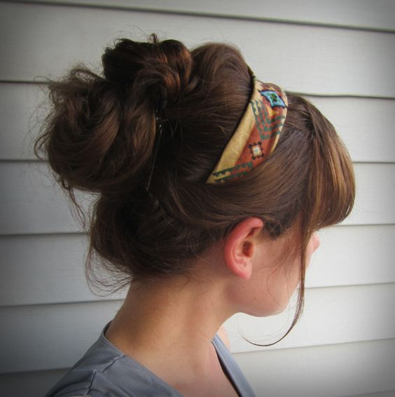 Tribal 'half headband', clips in instead of wrapping all the way around, good for very fine hair