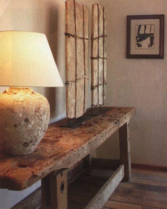 (̏◕◊◕)̋ a weathered worktable displaying Saharan salt tablets - Atelier AM