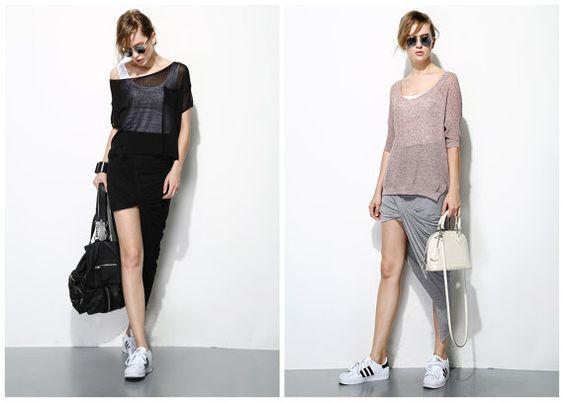 womens skirtsasymmetrical skirtsdraped skirtmade by HerselfStudios