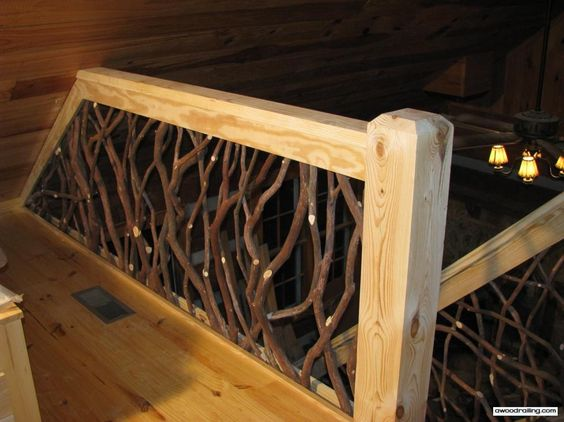 Rustic Mountian Stair Railings: Rustic Wood, Shape And Fence Design On Pinterest