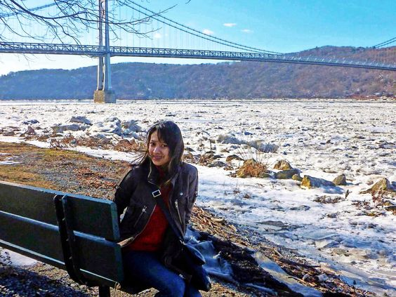 Frozen hudson river, January 2014. They said its polar vortex effects.