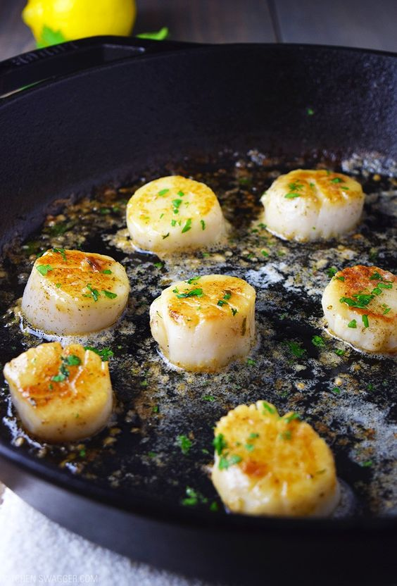 Pan Seared Scallops with Lemon Butter | Recipe | Scallops ...