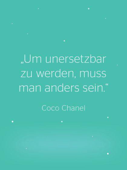 Coco Chanel #Zitat #inspiration