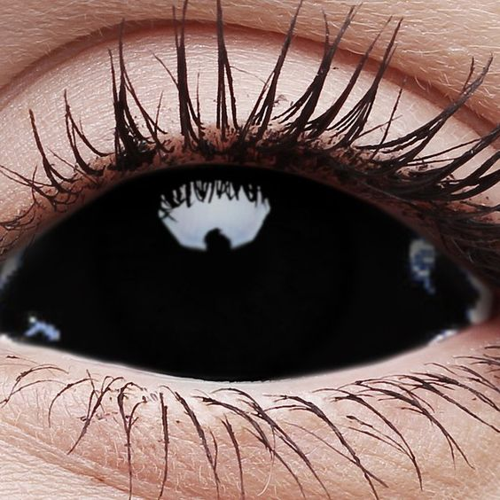 Blackout Contact Lenses, I got to a Catholic school and  I want these to freak out my teachers and friends: