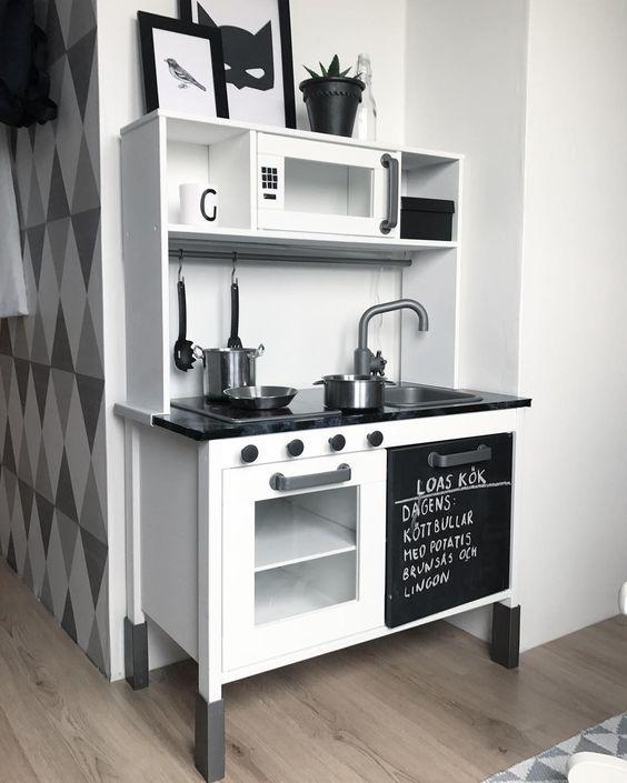 Ikea Duktig Küche Spielküche Hack Triangele Geometrie Black\white - udden küche gebraucht