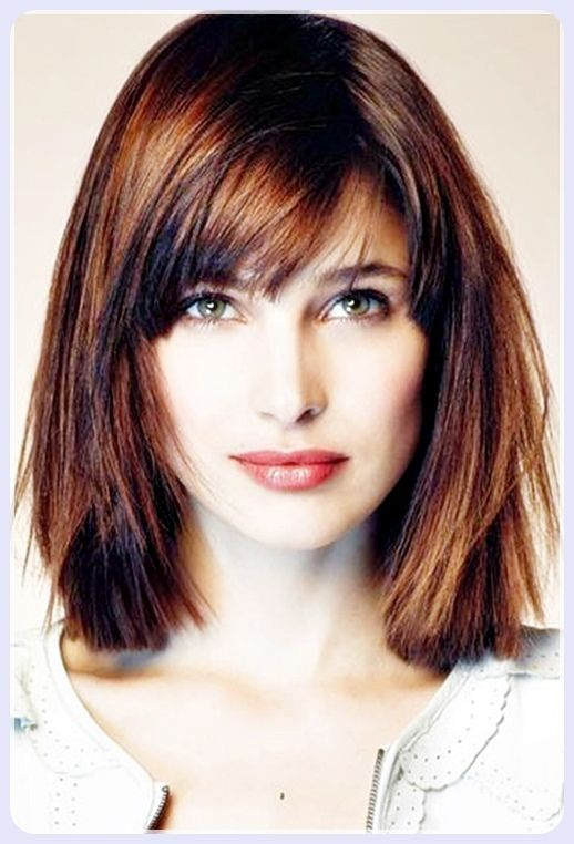 Short Straight Hair With Bangs Square Face Hairstyles Medium Hair Styles Haircut For Square Face