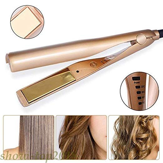 2 In 1 Styler Straightener And Curling Iron In One Travel Hair Curler Hair Straighteners Flat Irons Hair Curling Tools Flat Iron Hair Styles