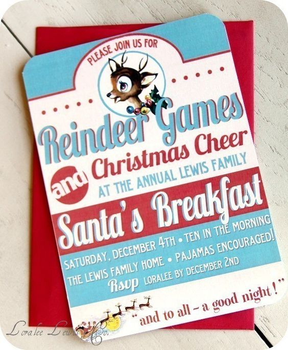 Great party idea - Reindeer games for the kids!