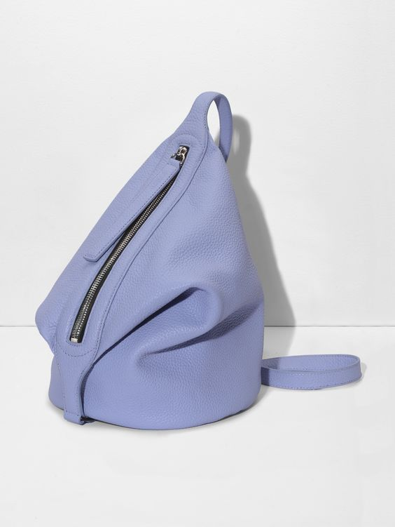 KARA Small Dry Bag in riviera blue pebble leather