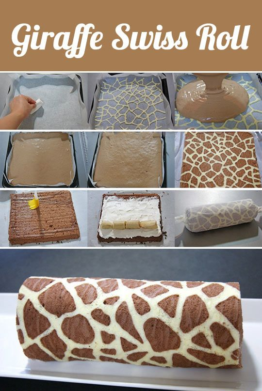 Giraffe Swiss Roll - this is so cool.