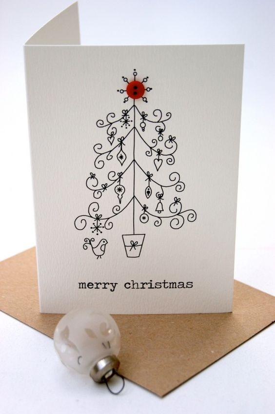 Christmas tree card - The Hummingbird Card Company
