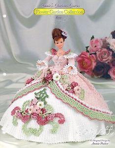 Rose Annie's Glorious Gowns Flower Garden Collection Crochet Patterns   eBay