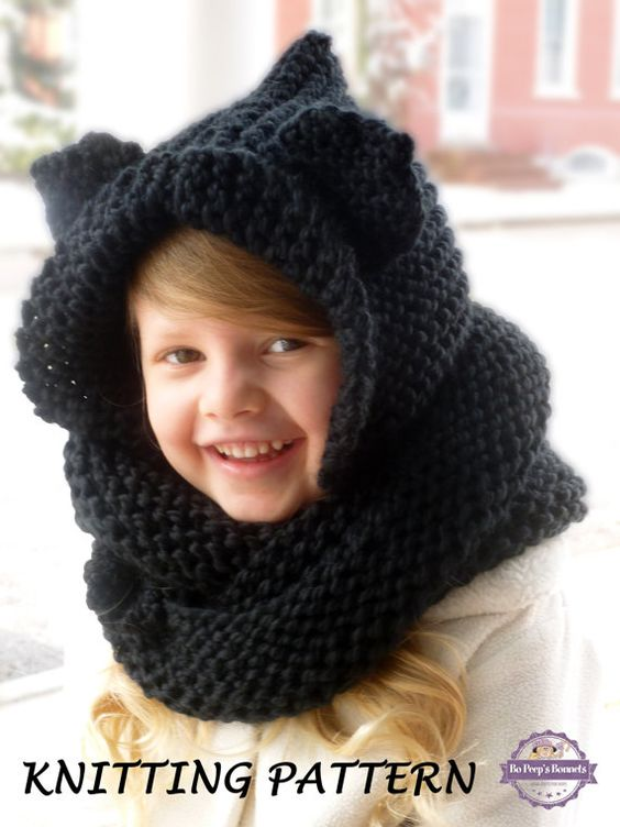 Knitting Pattern Hood With Ears : Pinterest   The world s catalog of ideas