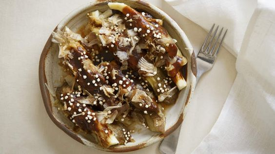 Smoky eggplant with tonkatsu sauce by Frank Camorra. Try this recipe for a Japanese dinner party.