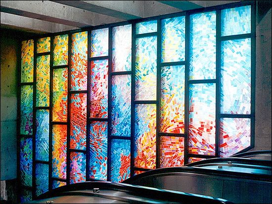 More Modern Stained Glass I Love How It Started Off As A