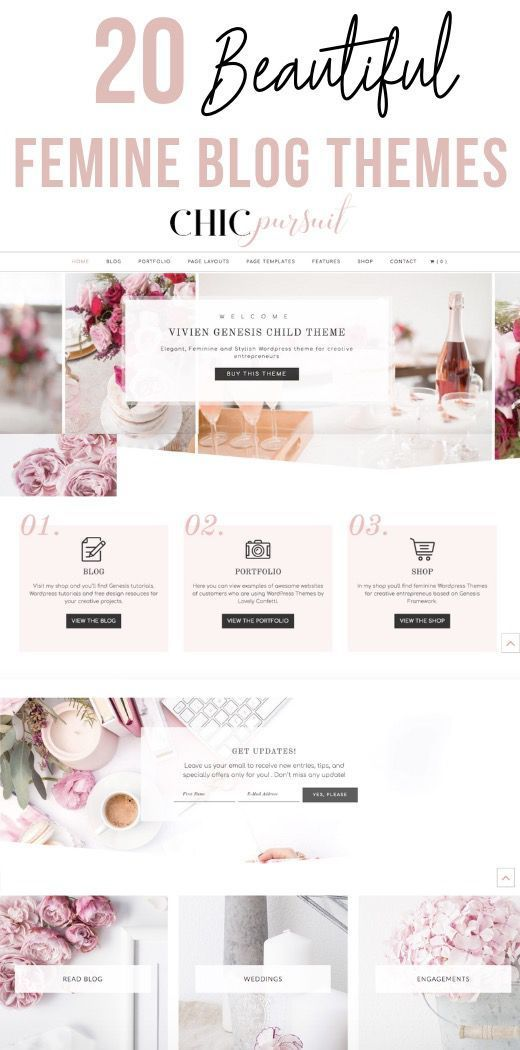 20 Beautiful Feminine Blog Themes For An Outstanding Website Feminine Blog Theme Feminine Blog Blog Themes,Embroidery Quilting Designs Free