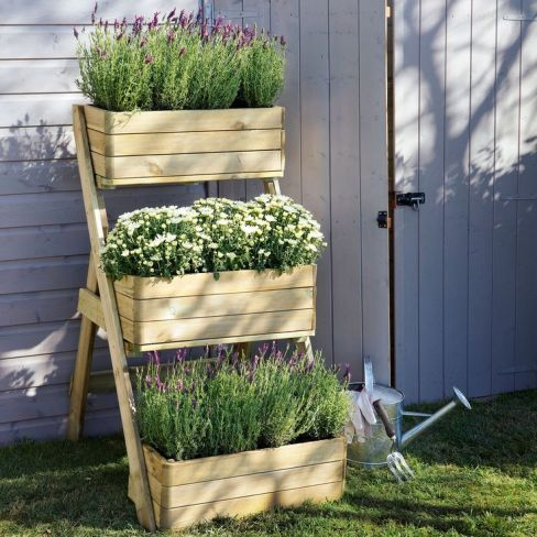 17 best images about tiered planters gardens planters for Balcony herb garden designs containers