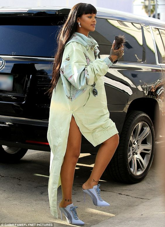 Pop-up store: Rihanna stopped by her new pop-up shop for her Puma collaboration Tuesday in...