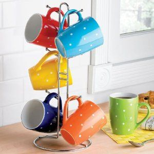 BrylaneHome 7-Pc. Coffee Mug Tree Set