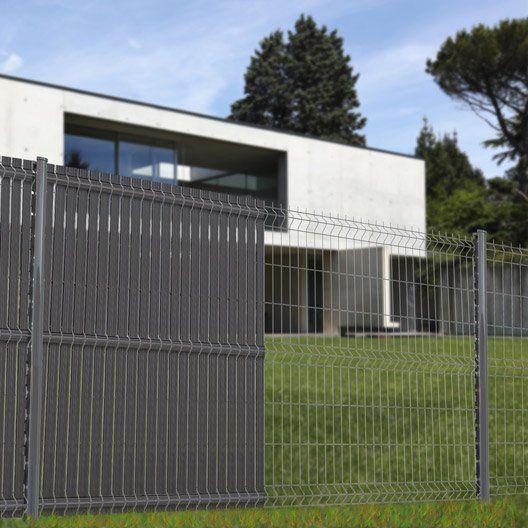 Brise Vue Avec Attaches Screeno Line H 193 X L 5 Cm Cloture Maison Grillage Jardin Brise Vue