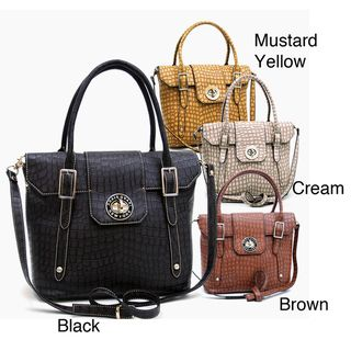 @Overstock - This elegant croco satchel, from Anais Gvani, radiates class and sophistication.  Each satchel is accented with detailed quality such as studs and zippers with special engraved designs.http://www.overstock.com/Clothing-Shoes/Anais-Gvani-On-the-Go-Croco-Embossed-Crossbody-Bag/7213395/product.html?CID=214117 $82.99