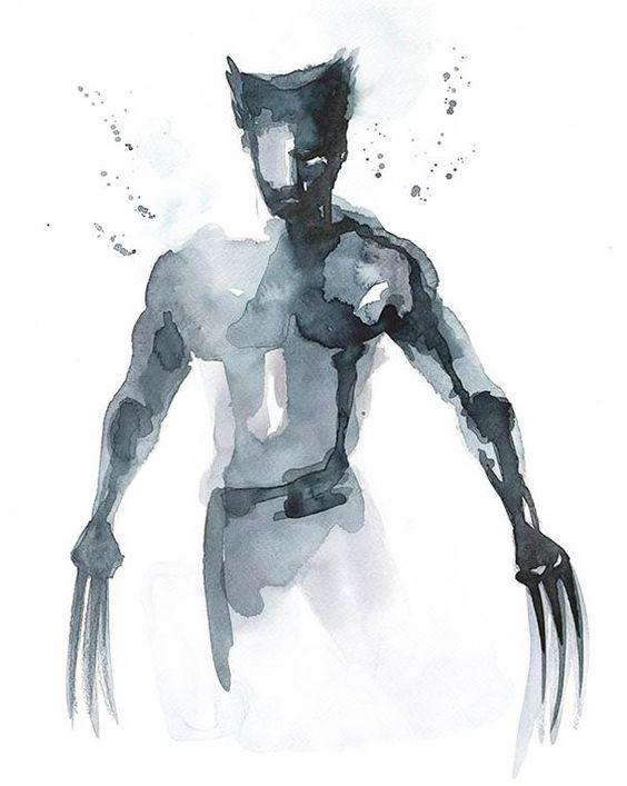 """Dans la lignée de """"Super Heroes: Painted – Les peintures de Arian Noveir"""", voici une sélection des créations de l'illustratrice française Blule, basée en Australie, qui a réalisé de superbes aquarelles en hommage aux super héros, de Superman à Captain America en passant par Spiderman, Hulk ou Wolverine…"""