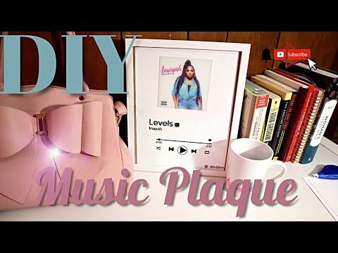 Detailed How To Diy Spotify Music Plaque Viral Tiktok Youtube Diy Picture Frames Spotify Music Diy