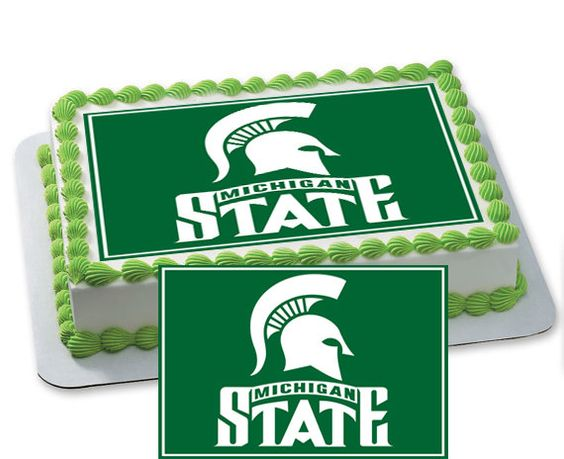 Michigan State Spartans Personalized by CakeTopperSpecialist