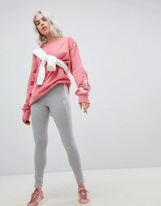 ADIDAS CROPPED CREWNECK & MATCHING LEGGINGS OUTFIT