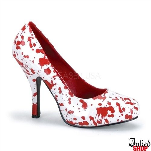 White Patent w/Red Blood Spatter by Funtasma