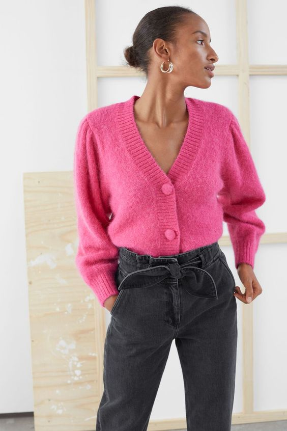 37 With Button Colorful Short Sweaters Trending Today outfit fashion casualoutfit fashiontrends