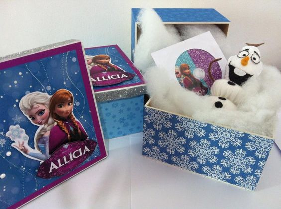 Kit lembrança caixa Frozen! Kit com Olaf e cd com as musicas do filme