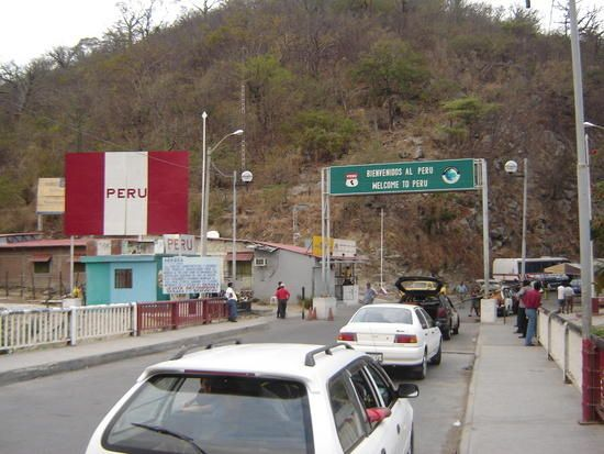 "Ecuador Peru Border Crossing ""La Tina"" or at Macará"