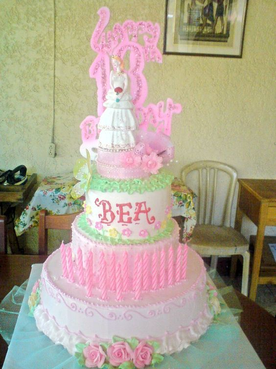Cakes chiffon and chang 39 e 3 on pinterest for Candle design for debut