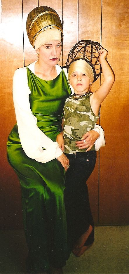 Theater is a family affair, don't you think? Here is Nancy Carlin as Lady Capulet and daughter Miranda, backstage. Romeo and Juliet, 2001. Directed by Mark Ruther #calshakes40th