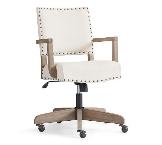 Manchester Upholstered Swivel Desk Chair With Images Swivel