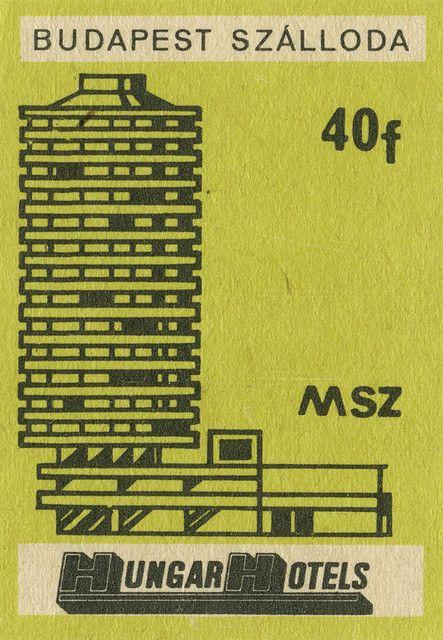 vintage matchbox cover art.