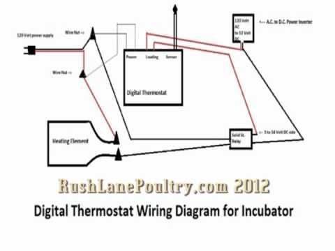 Here S The Wiring Diagram For The Digital Thermostat And Solid