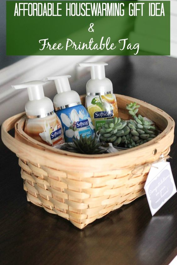 Affordable Housewarming Gift Idea Free Printable Tag