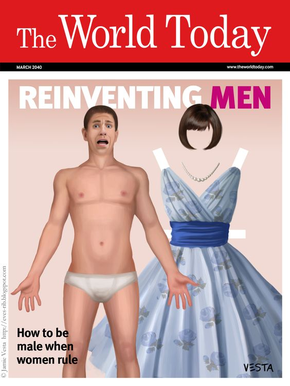Reinventing men. A magazine cover at the time.