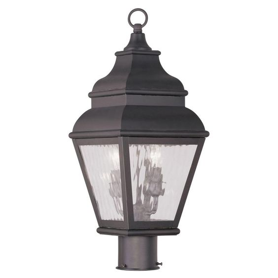 Providence 2-Light 12.75 in. Outdoor Bronze Post Head Lantern