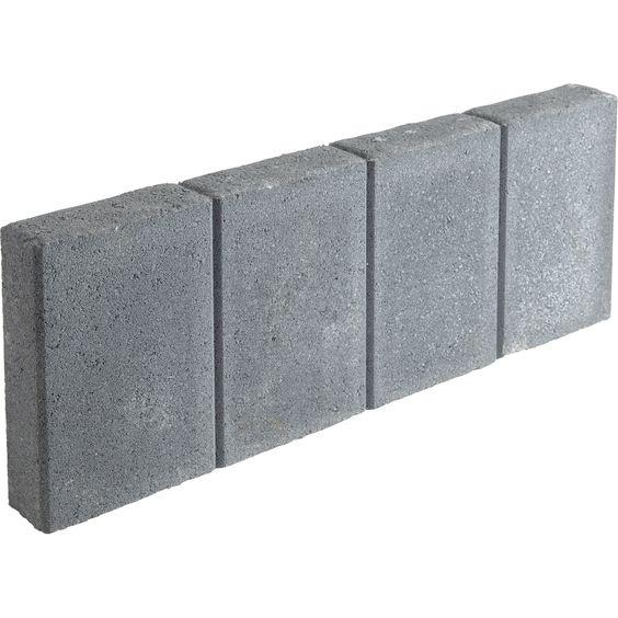 Bordure droite quadra b ton gris h 20 x l 50cm leroy - Retrete leroy merlin ...