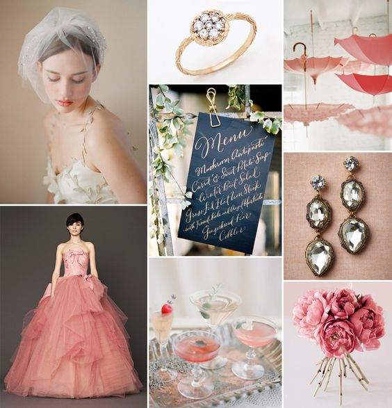 Rosa + Romântico + Feminino + Casamento