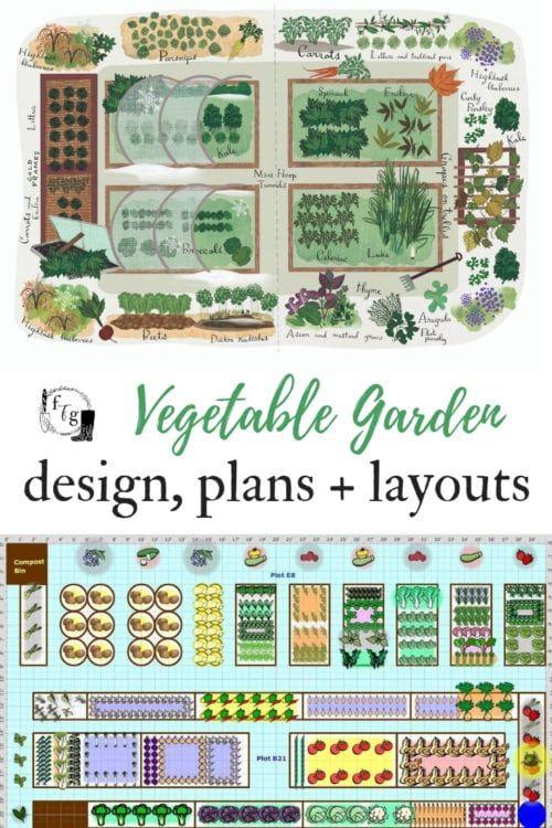 Vegetable Garden Plans Designs Layout Ideas Vegetable Garden