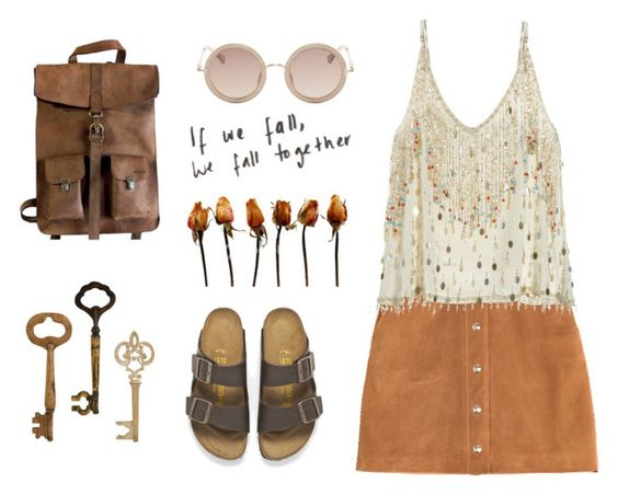 """Breaking Down (TMI tag)"" by vicente-almeida ❤ liked on Polyvore featuring mode, Emilio Pucci, Calypso St. Barth, Birkenstock, Kjøre Project et The Row"