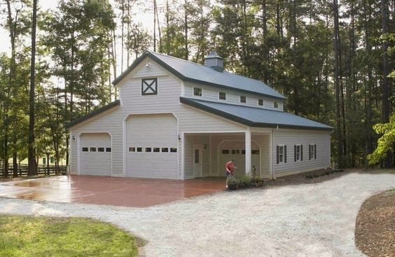 Metal barns with living quarters metal building homes for Metal garage with living quarters