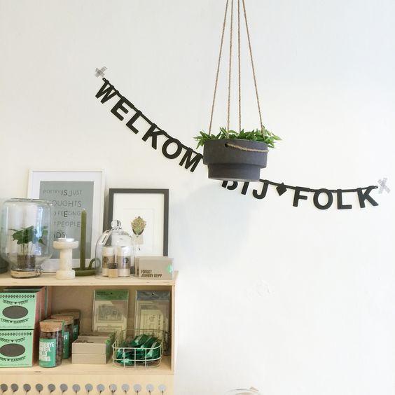 FOLK concept store Groningen met merken zoals: Miss green, Bij josse, WFTH, Pica plant en O green: