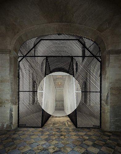"""Georges Rousse - Chapelle St Charles, Avignon 2010 """"Faire siens tous les millénaires de l'histoire humaine et y puiser la force d'ouvrir les millénaires à venir n'est pas de l'ordre de la connaissance, mais relève de la force d'âme."""" M. Dixsaut"""
