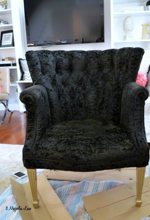 Painting Fabric Coats How To Paint Upholstery Fabric Black Velvet Chair Paintingfabric Coats Black Velvet Chair Chair Fabric Paint Upholstery